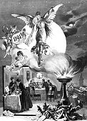 Happy New Year: Angel for the year 1891
