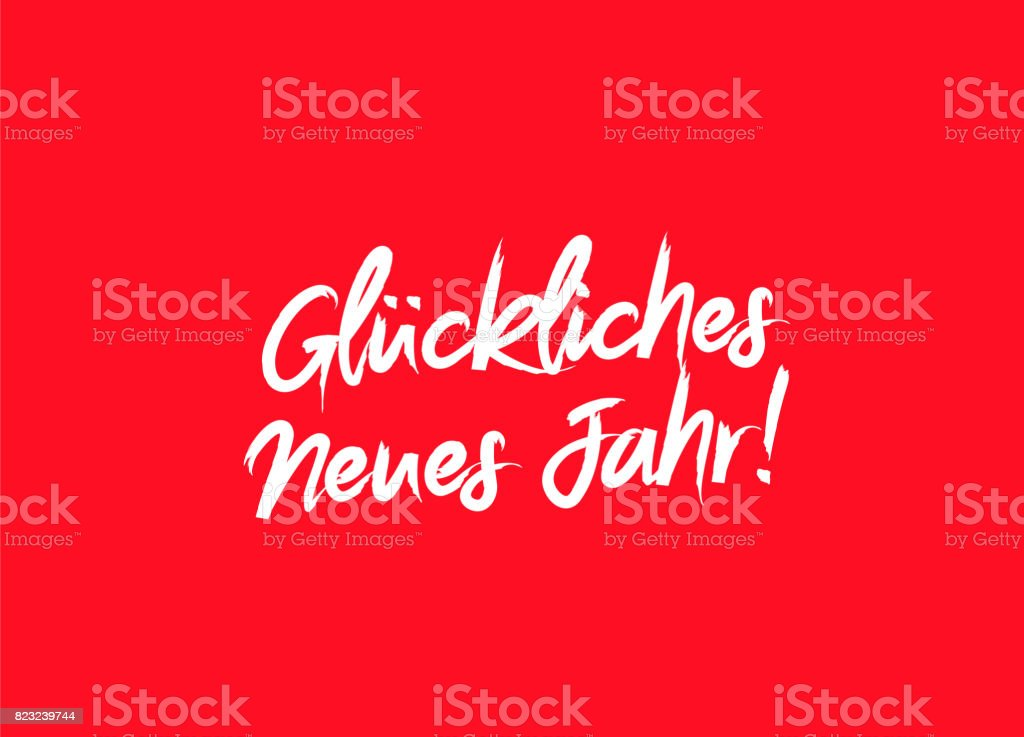happy new year on german language royalty free happy new year on german language stock