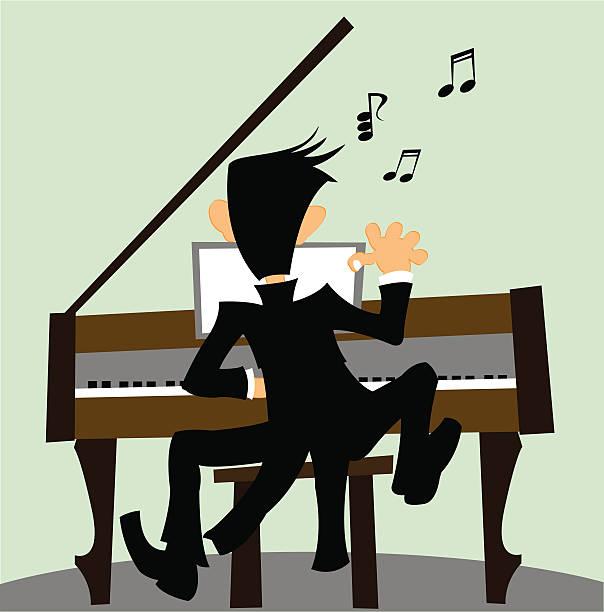 Pianist Clip Art, Vector Images & Illustrations - iStock