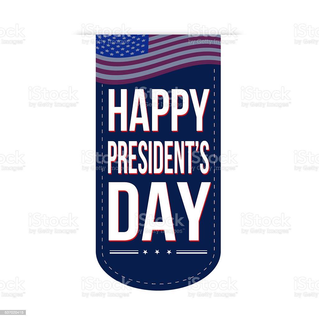 Happy Presidents Day banner design vector art illustration