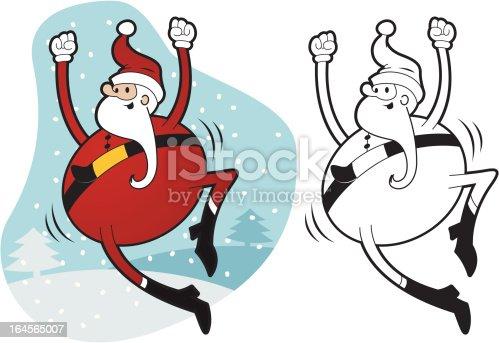 istock Happy Santa 164565007