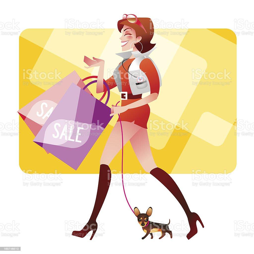 Happy shopping royalty-free stock vector art