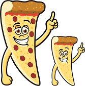 Happy Slice of Pepperoni Pizza