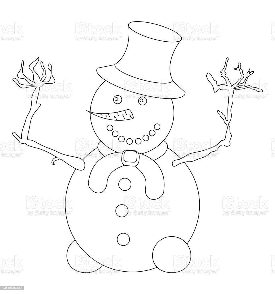 Ilustración de Felices Con Muñeco De Nieve Con Perfil Enu Y Bufanda ...