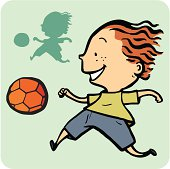 Boy playing soccer, see more from the series