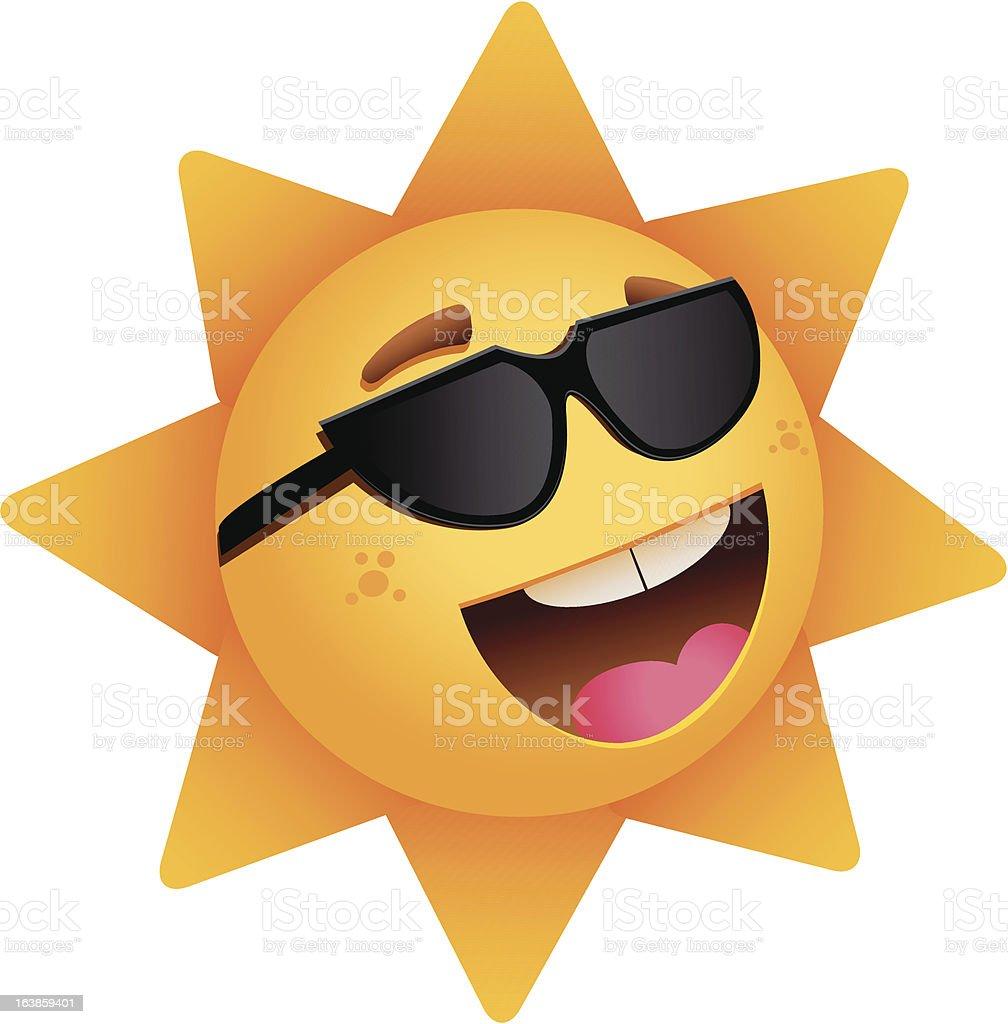 Szczęśliwy Słońce szczęśliwy słońce - stockowe grafiki wektorowe i więcej obrazów dowcip rysunkowy royalty-free