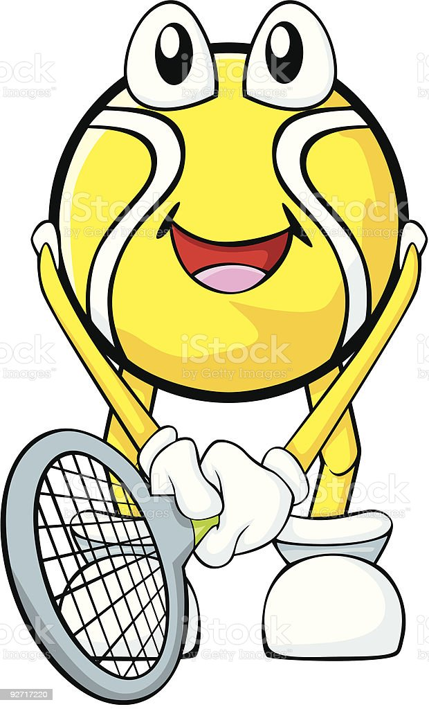 Happy Tennis Player royalty-free stock vector art