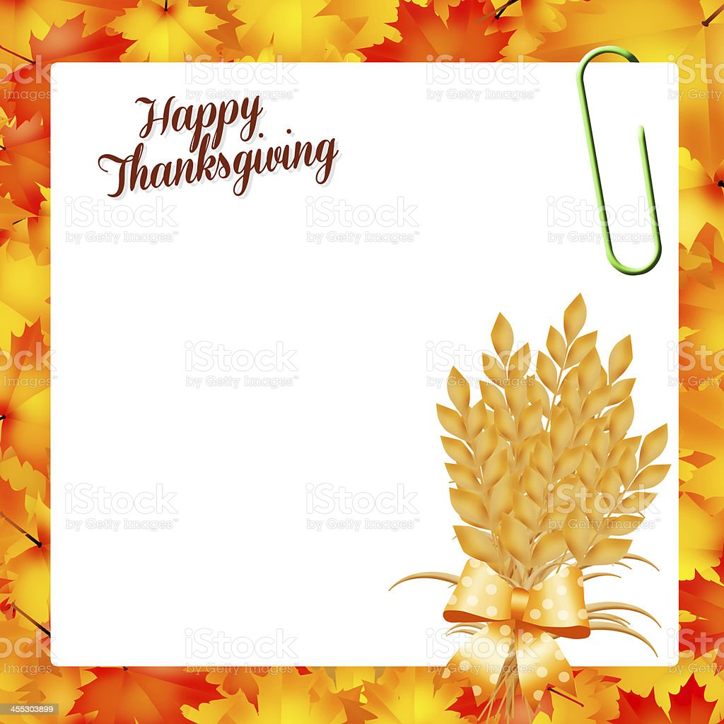 Happy Thanksgiving royalty-free stock vector art