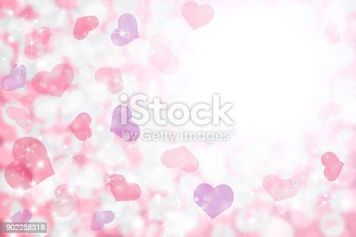 Fondos De Corazones Y Estrellas: Happy Valentines Day Background Of Pastel Pink Purple