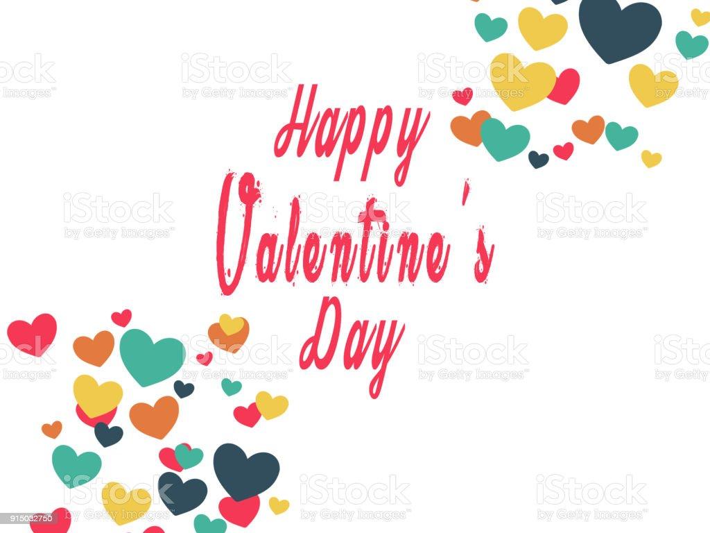 Happy Valentines Day Card Stylish Illustration Of Valentines Day