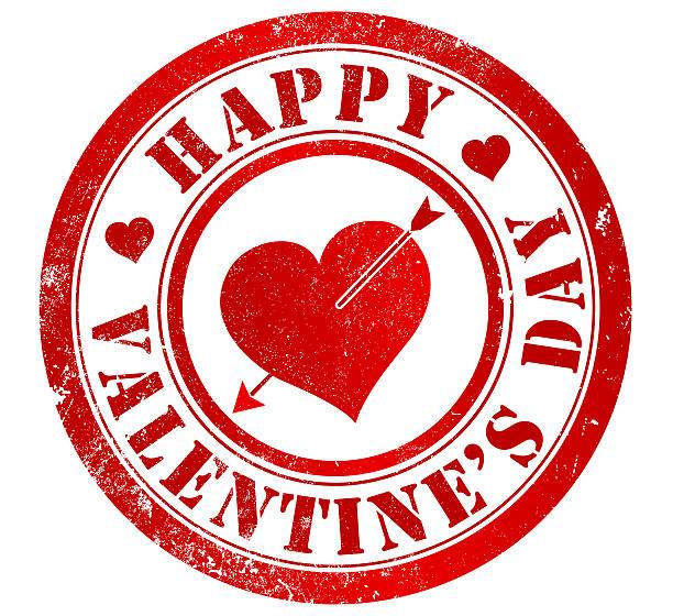 Feliz día de San Valentín de la firma - ilustración de arte vectorial