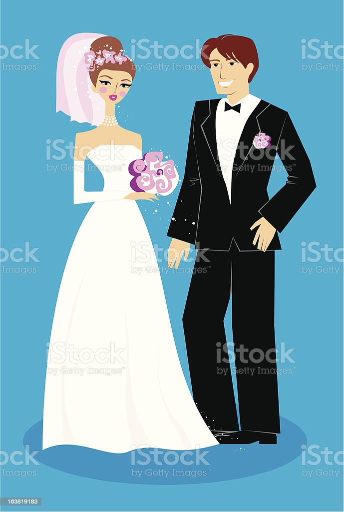 Happy wedding royalty-free happy wedding stock vector art & more images of adult