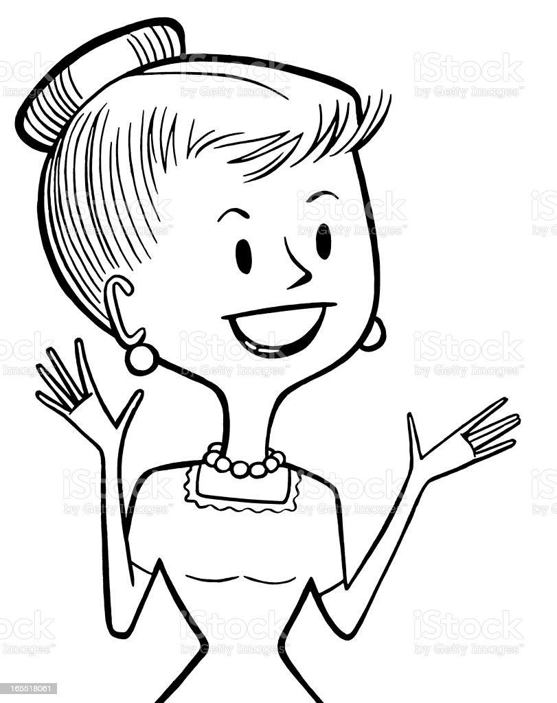 Happy Woman royalty-free stock vector art