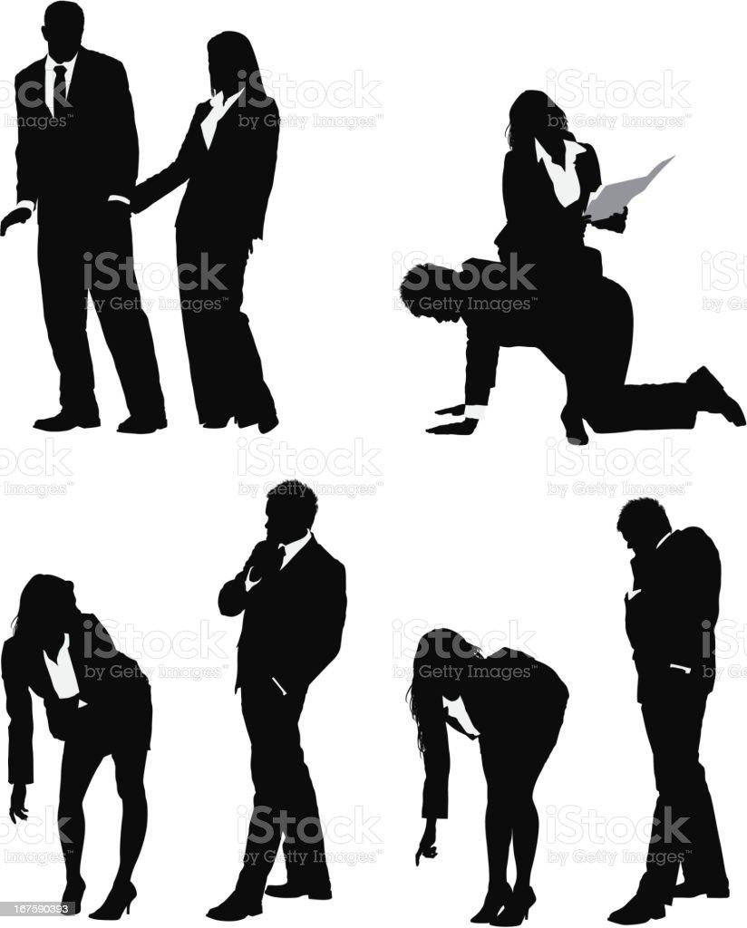 Harassment in the office vector art illustration