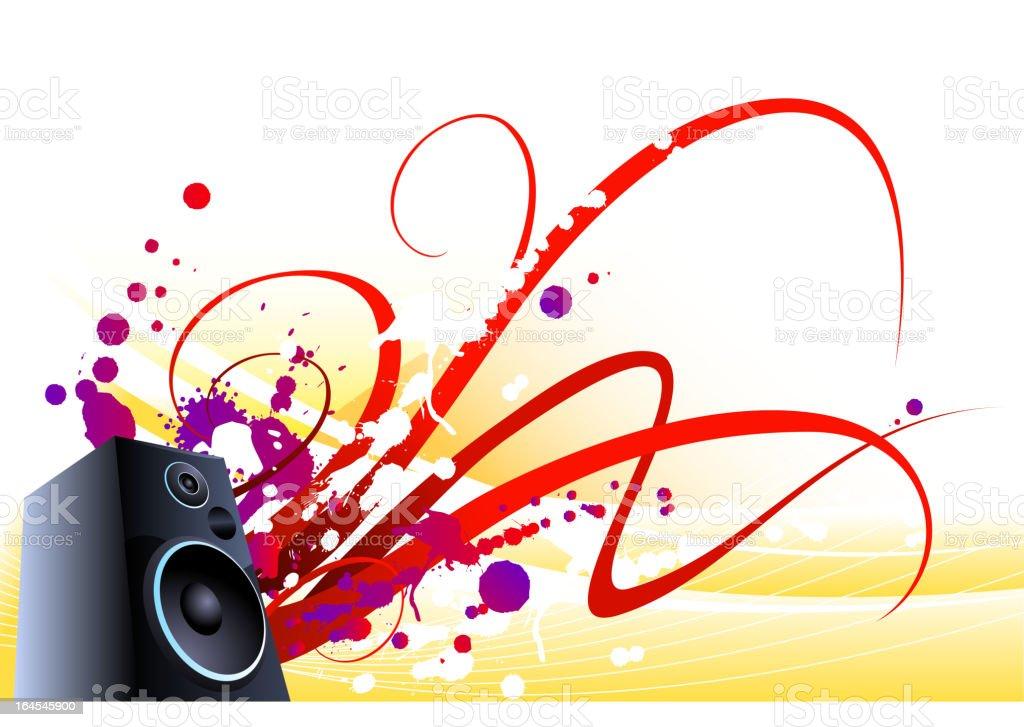 Hard sound waves royalty-free stock vector art