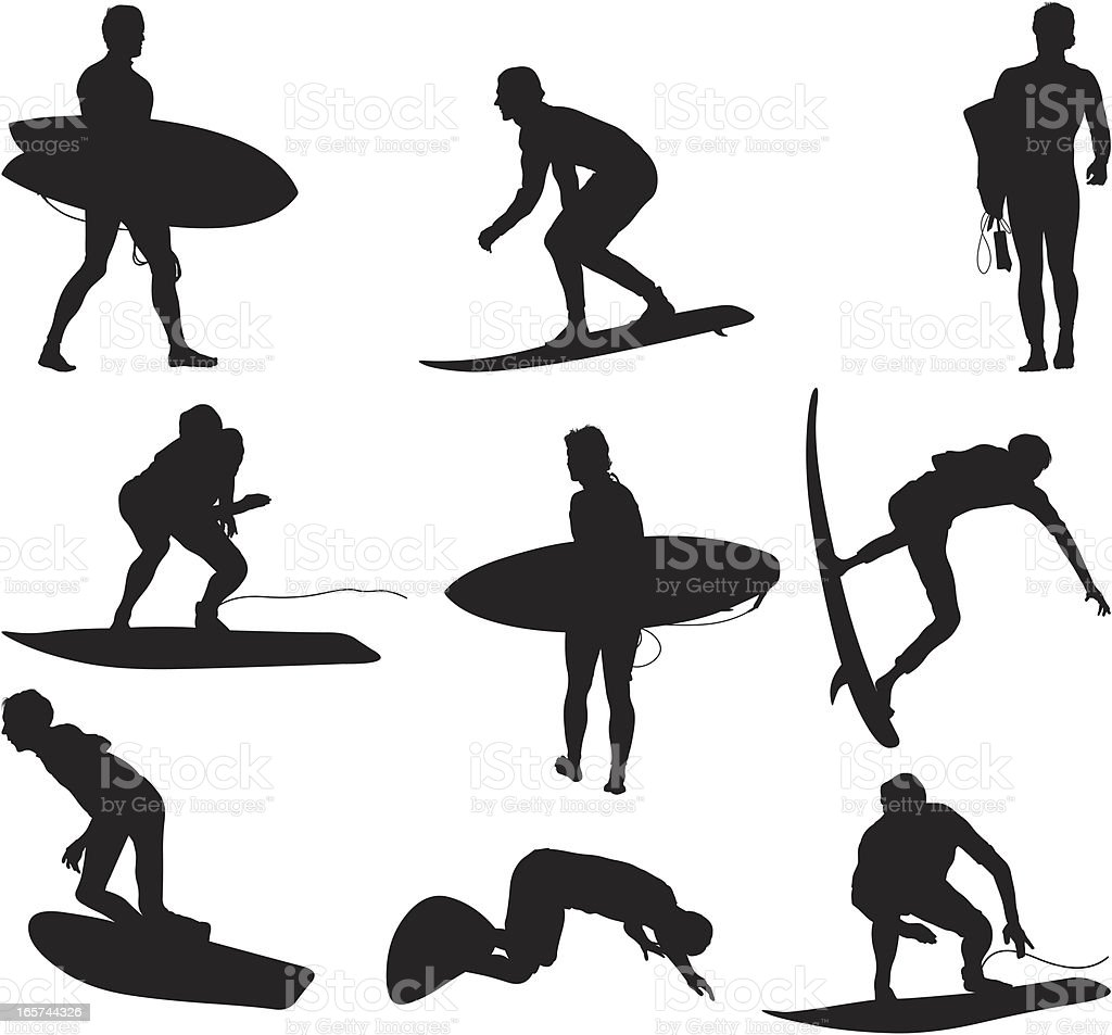 Hardcore surfer male royalty-free stock vector art