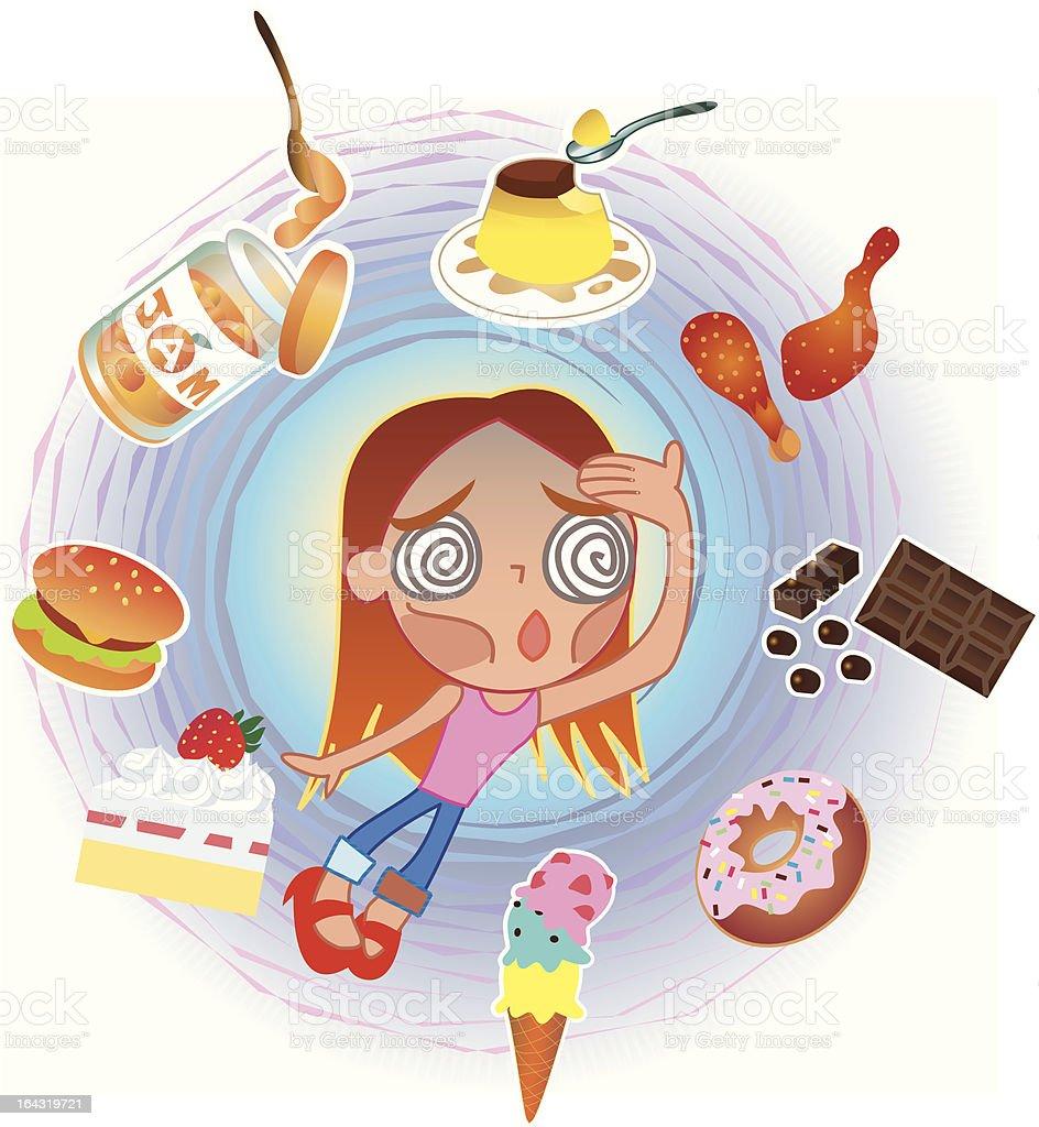 Hard-diet! royalty-free stock vector art