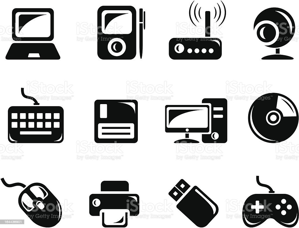 Hardware icons royalty-free stock vector art
