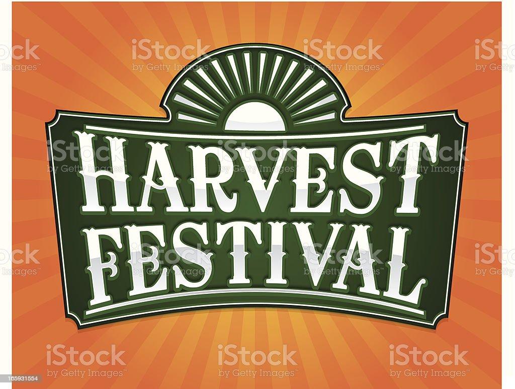harvest festival flier vector art illustration