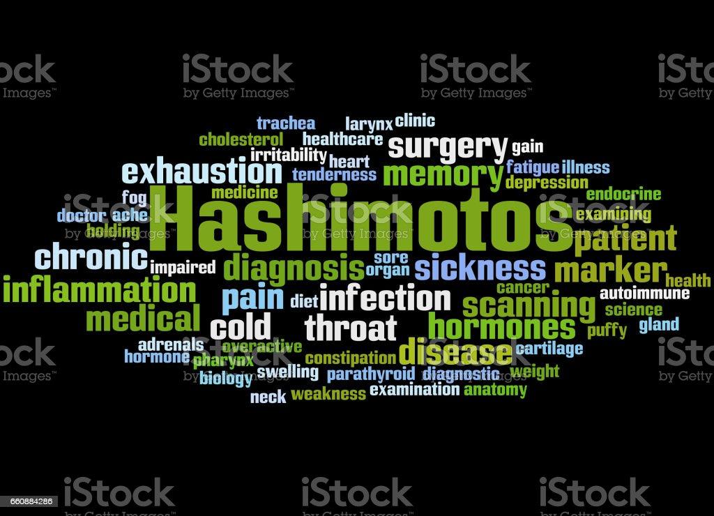 Hashimotos, word cloud concept 5 vector art illustration