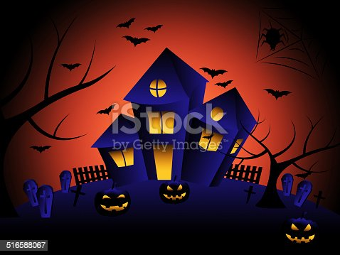 Haunted House Meaning Trick Or Treat And Halloween Horror