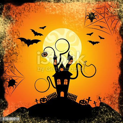 Haunted House Meaning Trick Or Treat And Evil Spooky