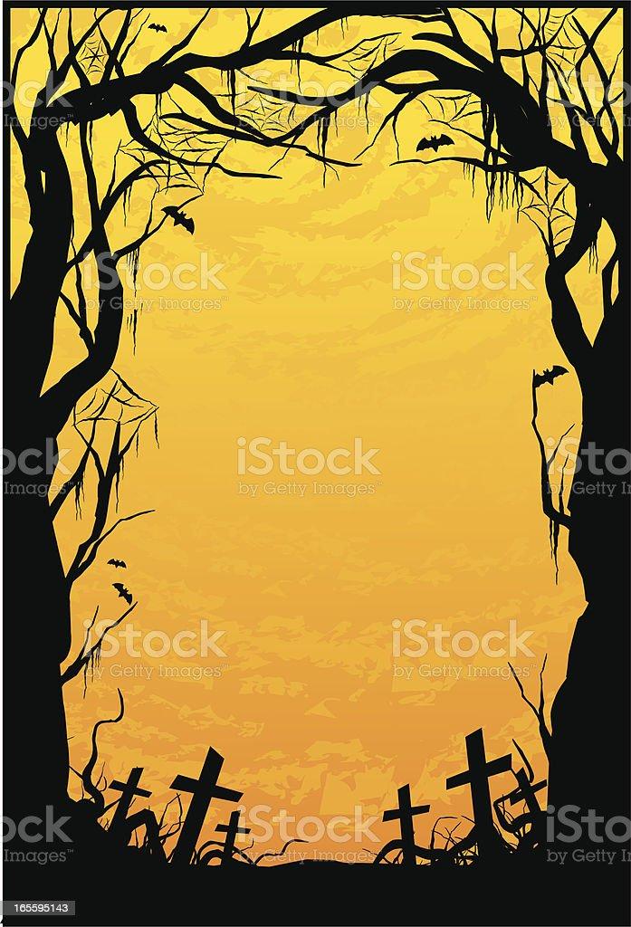 haunted woods royalty-free stock vector art