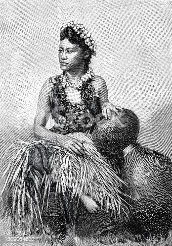 istock Hawaii, female dancer 1309054832