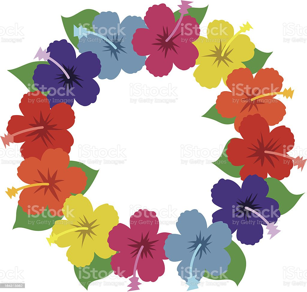 hawaiian hibiscus lei stock vector art more images of beach rh istockphoto com lei pictures clip art lei pictures clip art