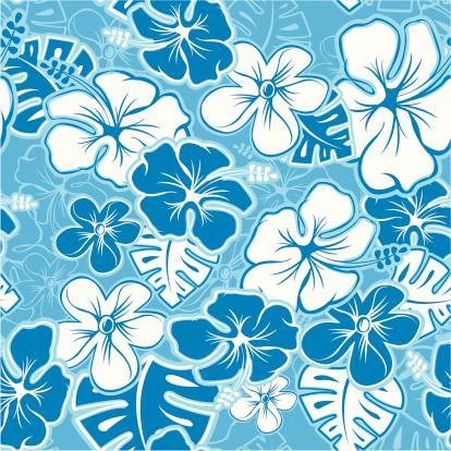 Vector Tileable Seamless Hawaiian Pattern