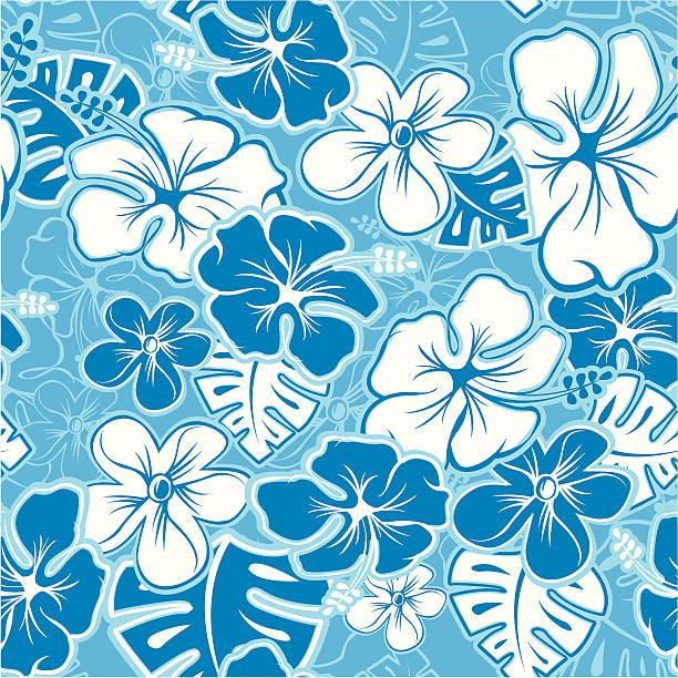 Hawaiian Pattern Vector Tileable Seamless Hawaiian Pattern hawaiian culture stock illustrations