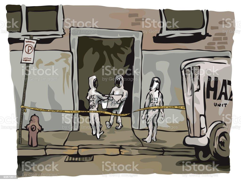 Hazmat Team vector art illustration