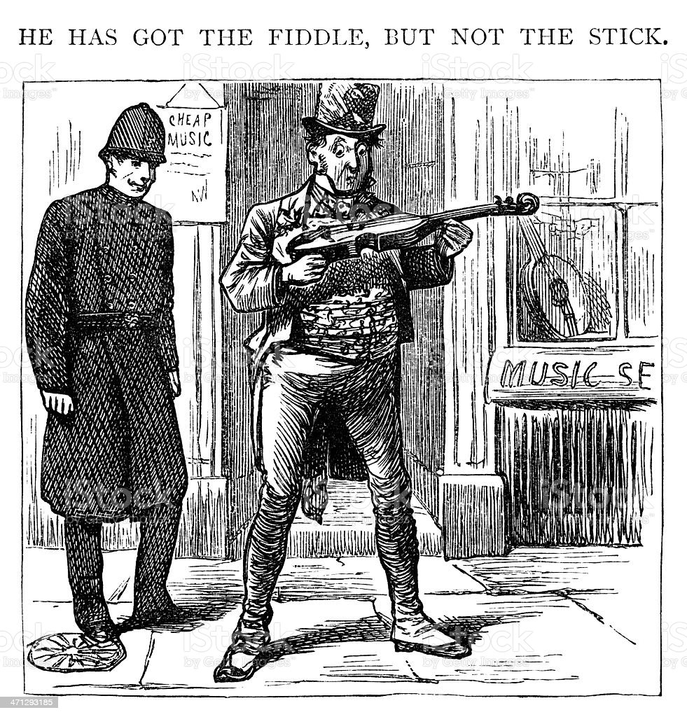 He has got the fiddle but not the stick royalty-free he has got the fiddle but not the stick stock vector art & more images of 19th century style