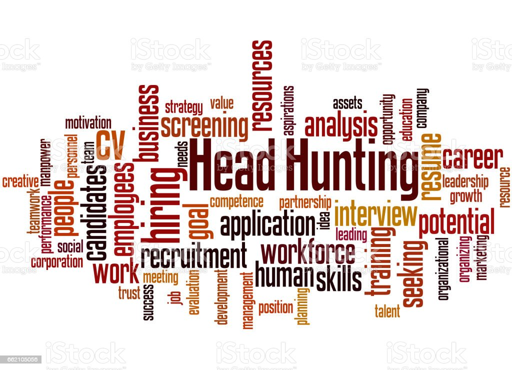 Head Hunting, word cloud concept 5 royalty-free head hunting word cloud concept 5 stock vector art & more images of business finance and industry