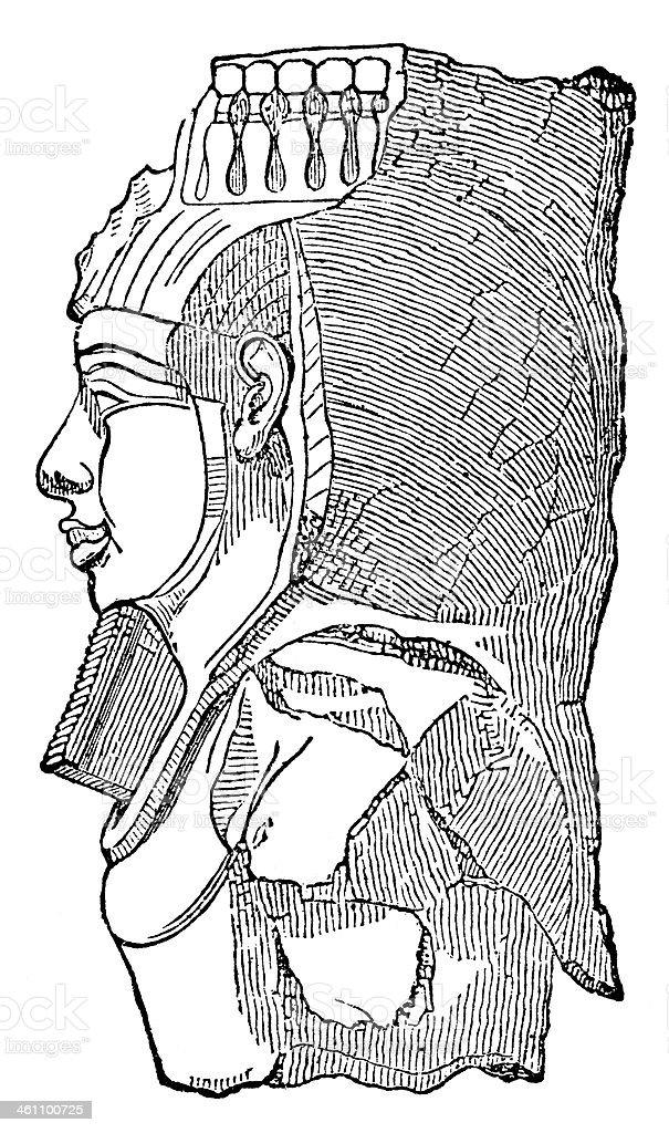Head Of Memnon royalty-free stock vector art