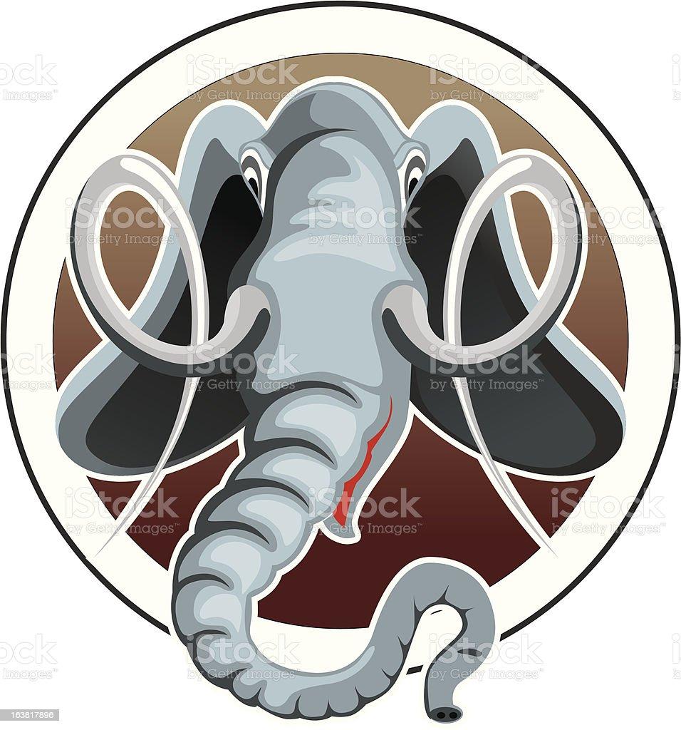 head of the elephant royalty-free stock vector art