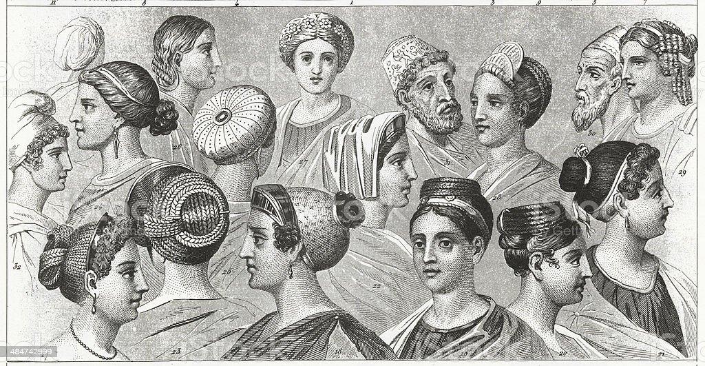 Headdresses Starożytnego Rzymu Stockowe Grafiki Wektorowe
