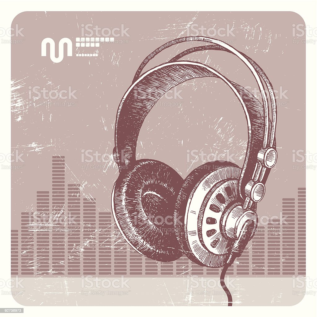 Headphones  Analog stock vector