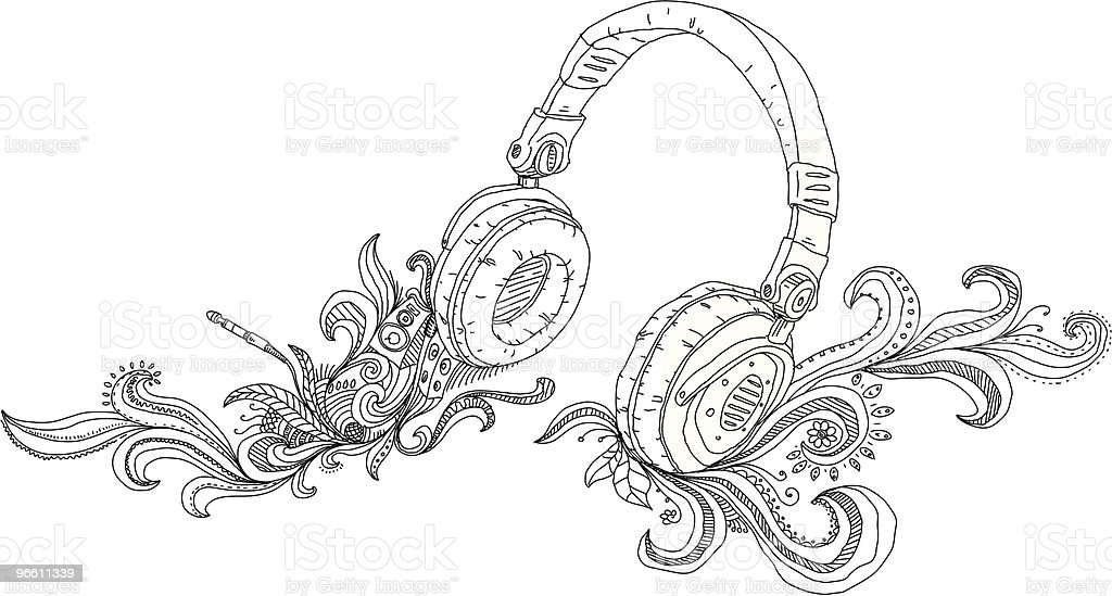Headphones - Royalty-free Abstract stock vector