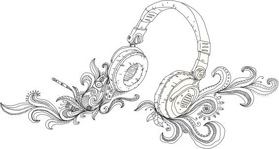 Headphones-vektorgrafik och fler bilder på Abstrakt