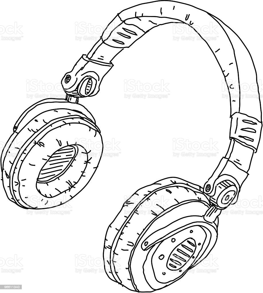 Headphones - Royaltyfri Audioutrustning vektorgrafik