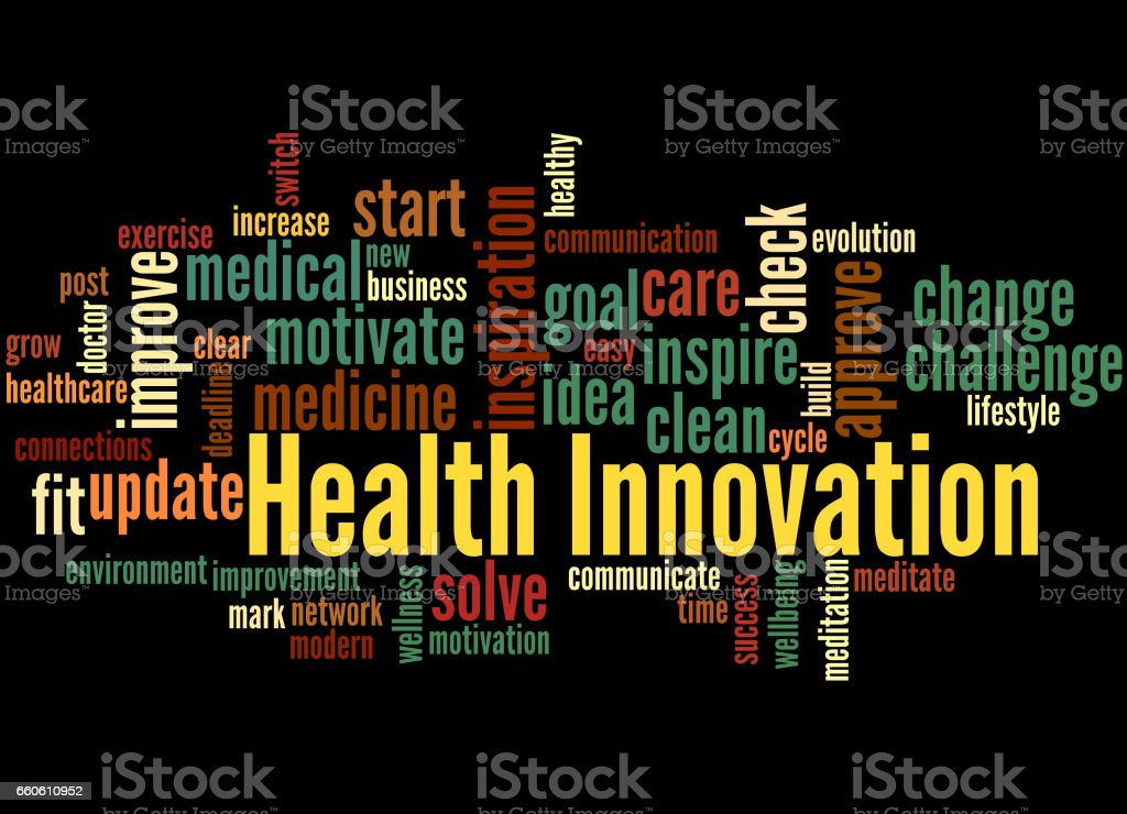 Health Innovation, word cloud concept 4 royalty-free health innovation word cloud concept 4 stock vector art & more images of business