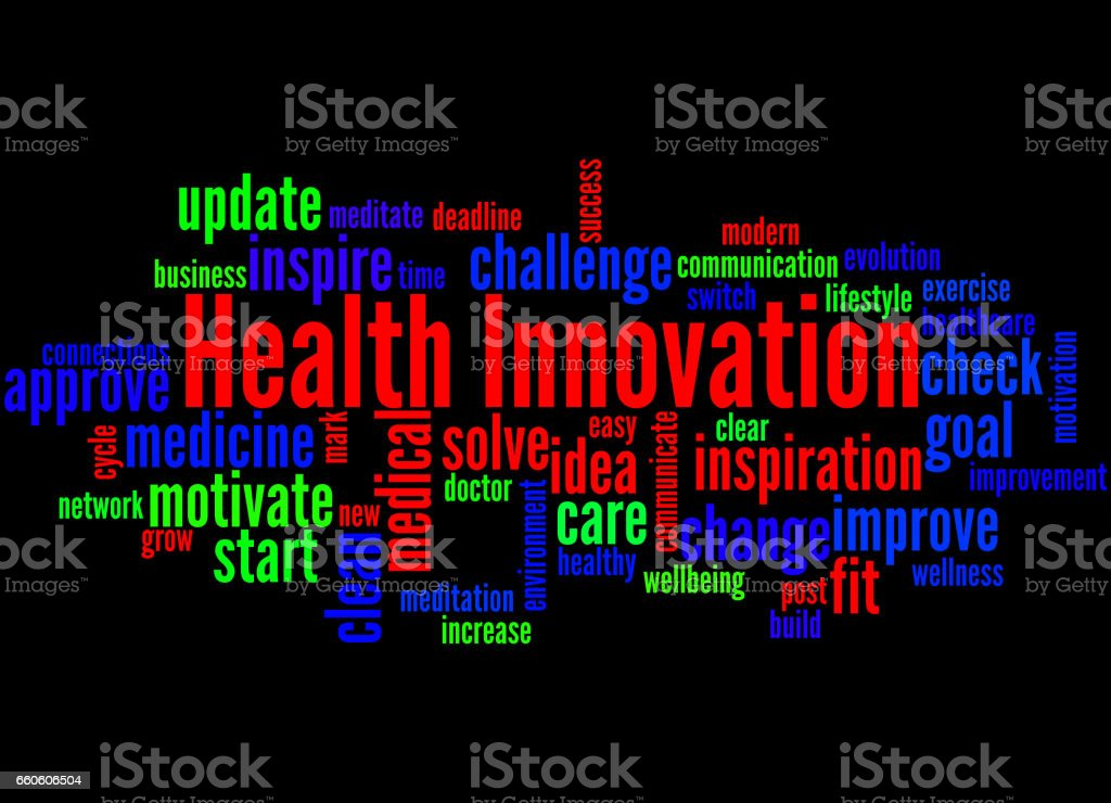 Health Innovation, word cloud concept royalty-free health innovation word cloud concept stock vector art & more images of business