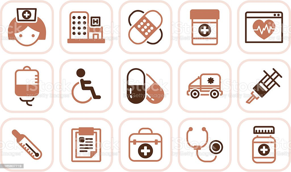 healthcare and medicine icons royalty-free stock vector art