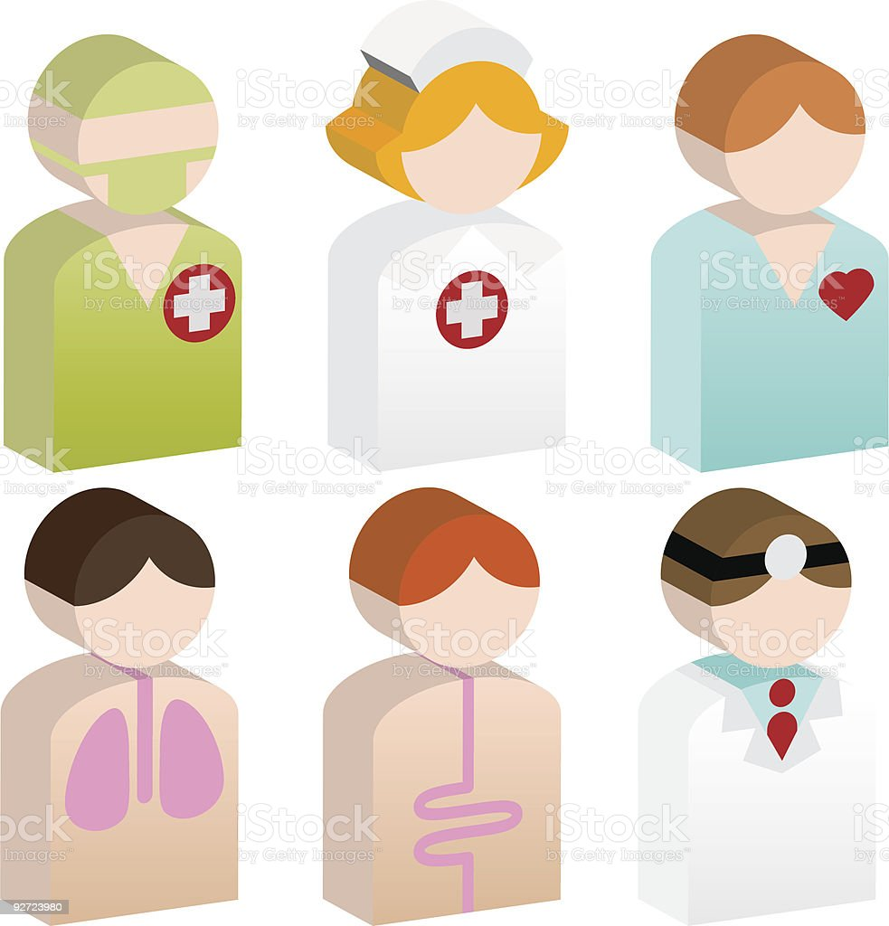 Healthcare People royalty-free stock vector art