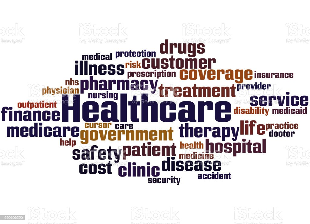 Healthcare, word cloud concept 2 royalty-free healthcare word cloud concept 2 stock vector art & more images of care