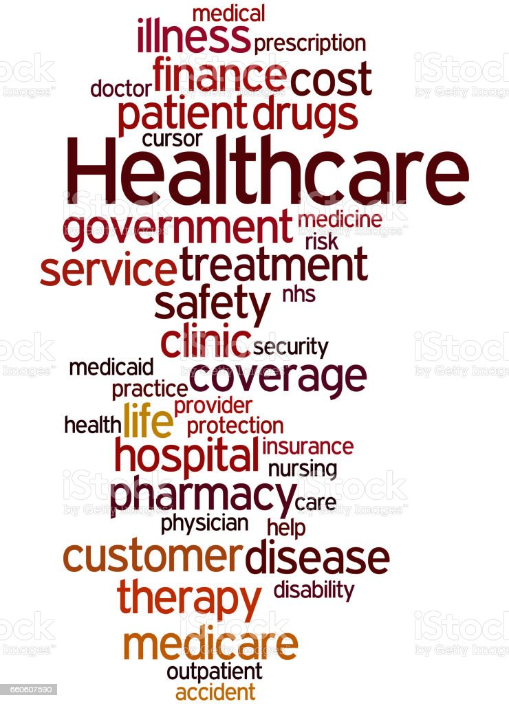 Healthcare, word cloud concept 4 royalty-free healthcare word cloud concept 4 stock vector art & more images of care