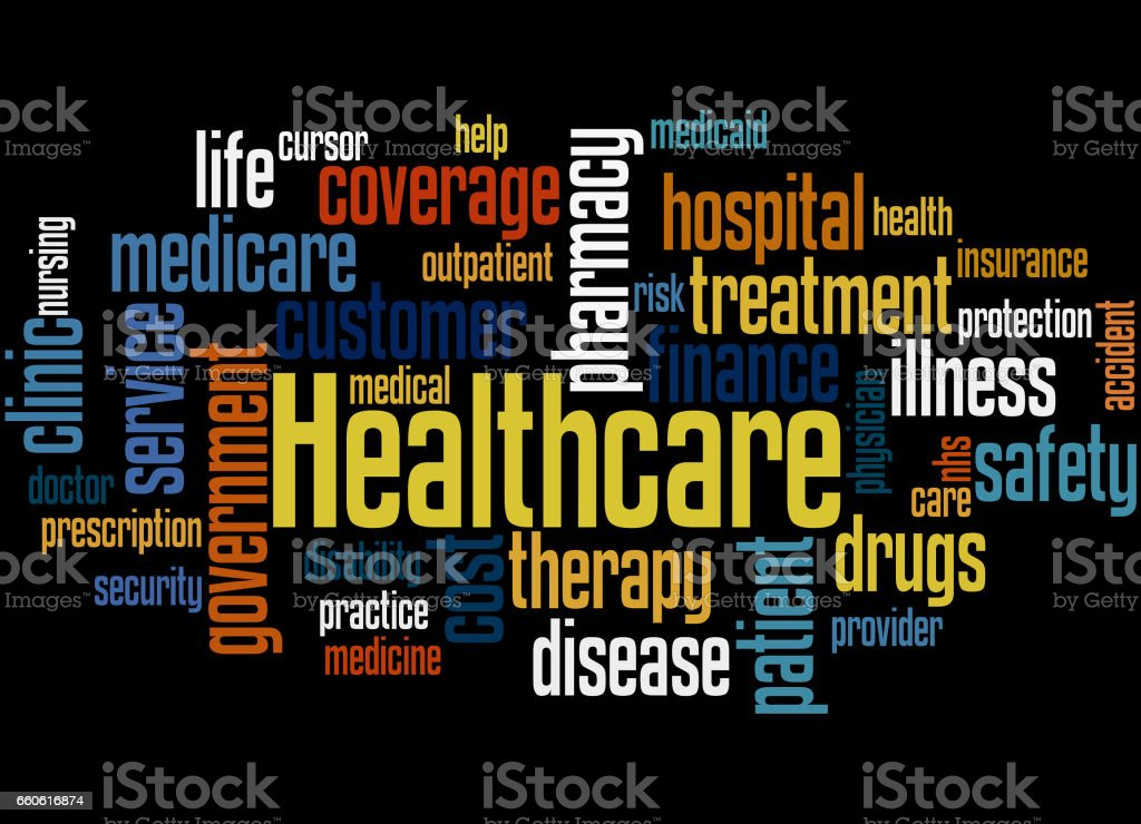 Healthcare, word cloud concept 6 royalty-free healthcare word cloud concept 6 stock vector art & more images of care
