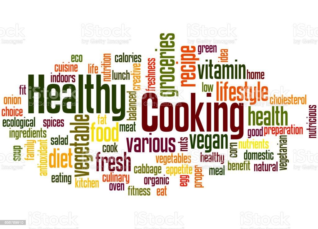 Healthy Cooking Word Cloud Concept 6 Stock Vector Art 656769910 Istock