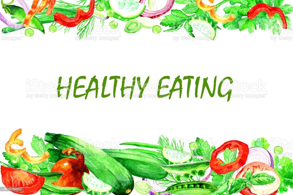 Healthy food vector art illustration